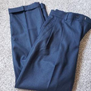 Stafford Navy Blue Mens Dress Pants 34x30